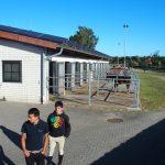 Victor et Jonathan sur leur nouveau lieu de stage à Bad Salzuflen.