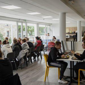 La rénovation de la salle à manger en partie financée par la Région
